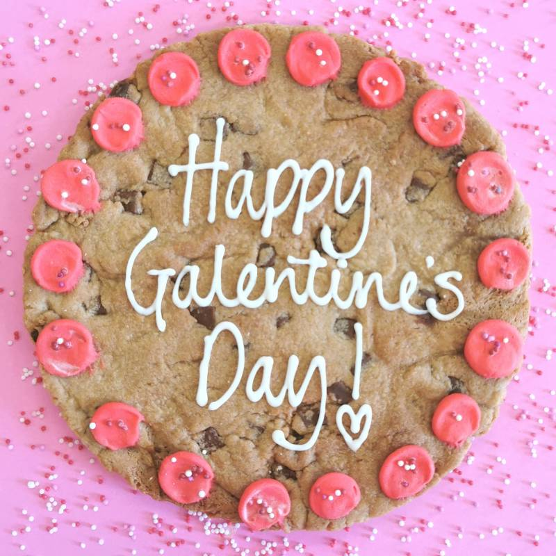 Personalised Valentines Day Giant Chocolate Cookie
