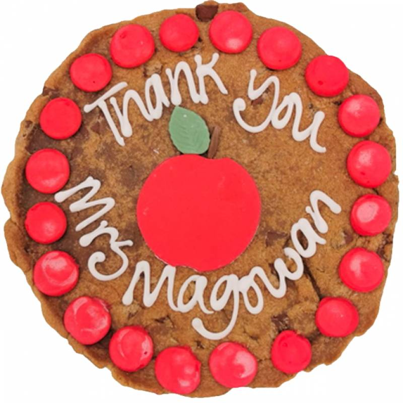 Personalised Giant Thank You Teacher Cookie