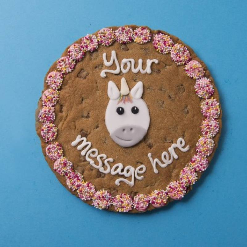 Personalised Giant Unicorn Cookie