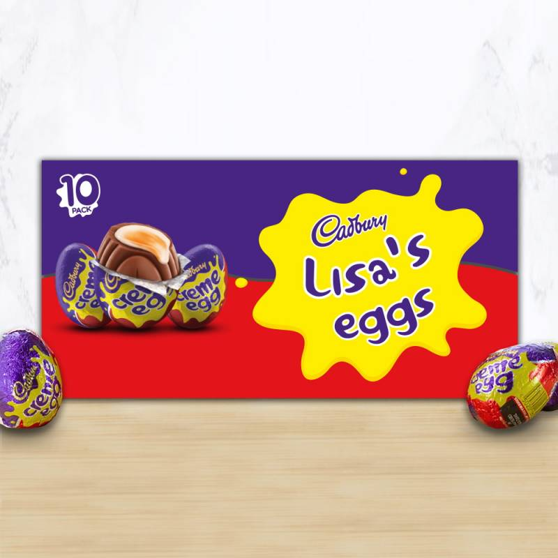 10 Personalised Cadbury Creme Eggs Box
