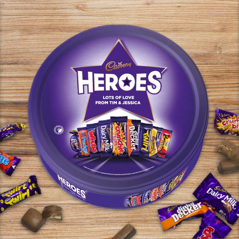 Personalised Cadbury Heroes Tin