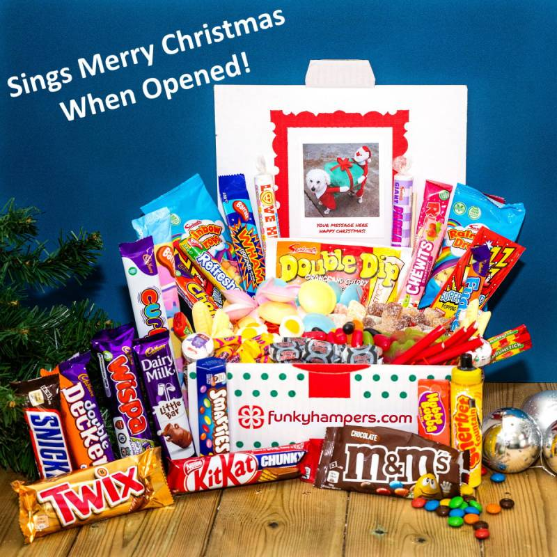 Personalised Christmas Musical PicBox Sweet Chocolate Hamper
