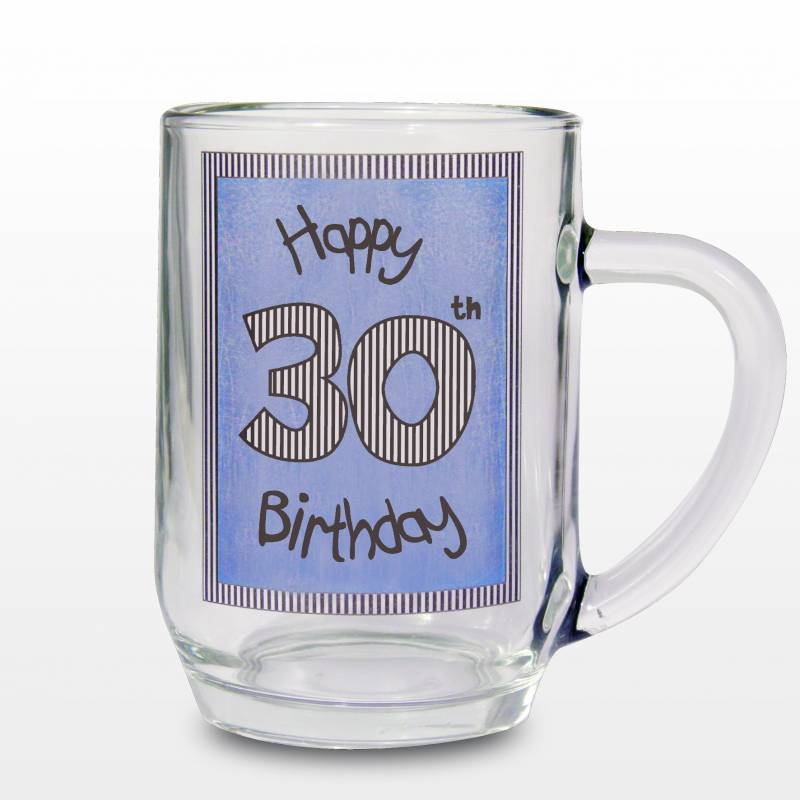 Blue 30th Happy Birthday Tankard