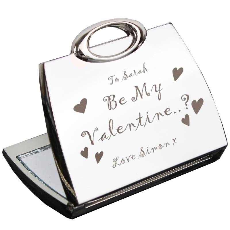 Personalised Be My Valentine Handbag Compact