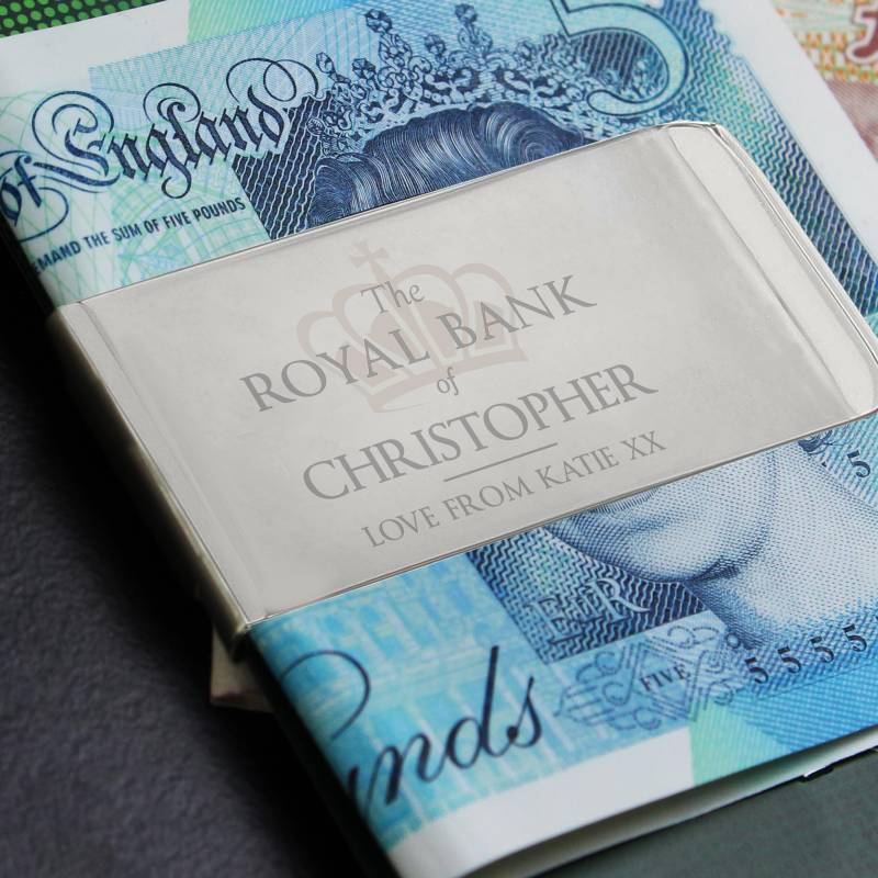 Personalised 'Royal Bank of...' Money Clip