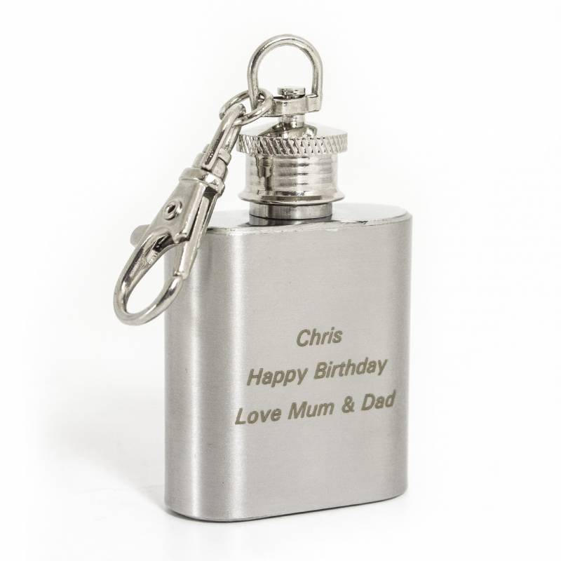Personalised 1oz Hipflask Keyring