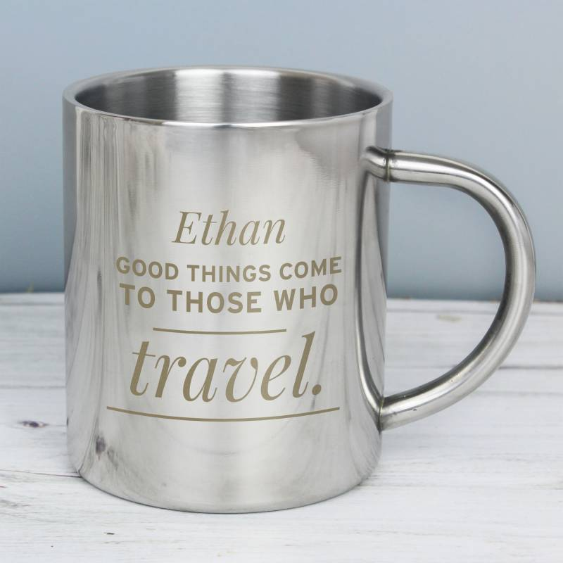 Personalised 'Any Message' Metal Mug