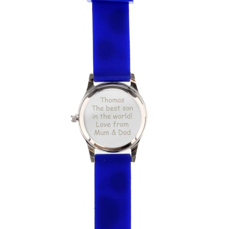 Personalised Kid's Blue Time Teacher Watch with Presentation Box