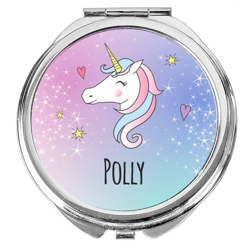 Personalised Unicorn Compact Mirror