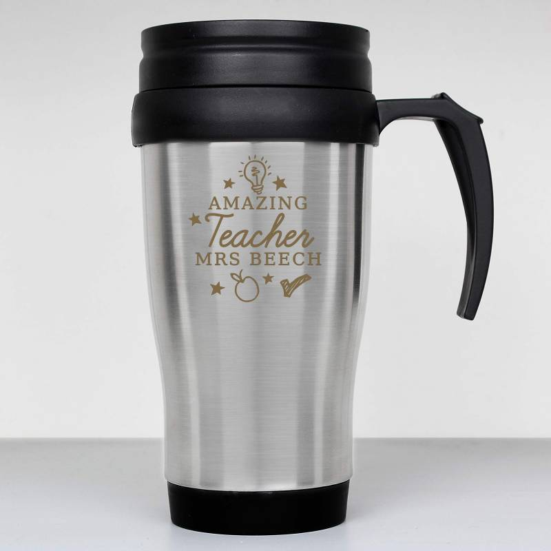 Personalised Teachers 'Apple' Travel Mug