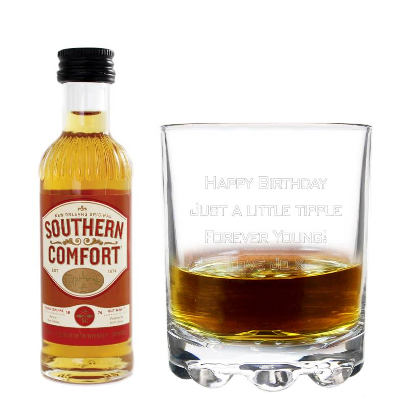 Personalised Glass and Southern Comfort Set