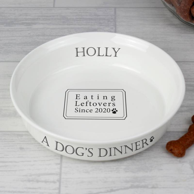 Personalised A Dogs Dinner Dog Bowl