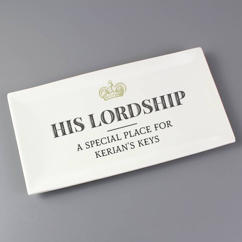 Personalised His Lordship Ceramic Tray