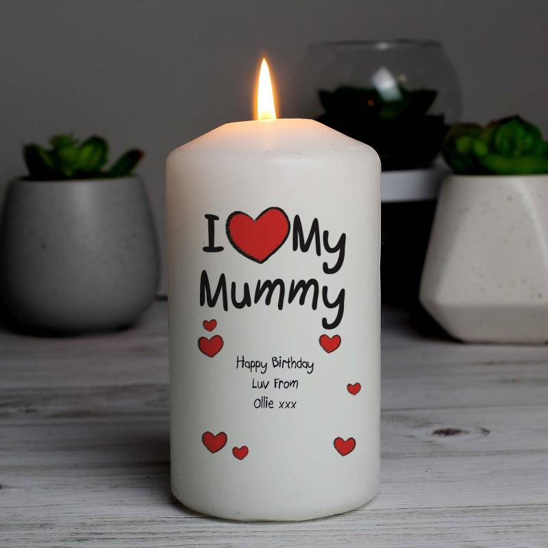 Personalised Love Candle