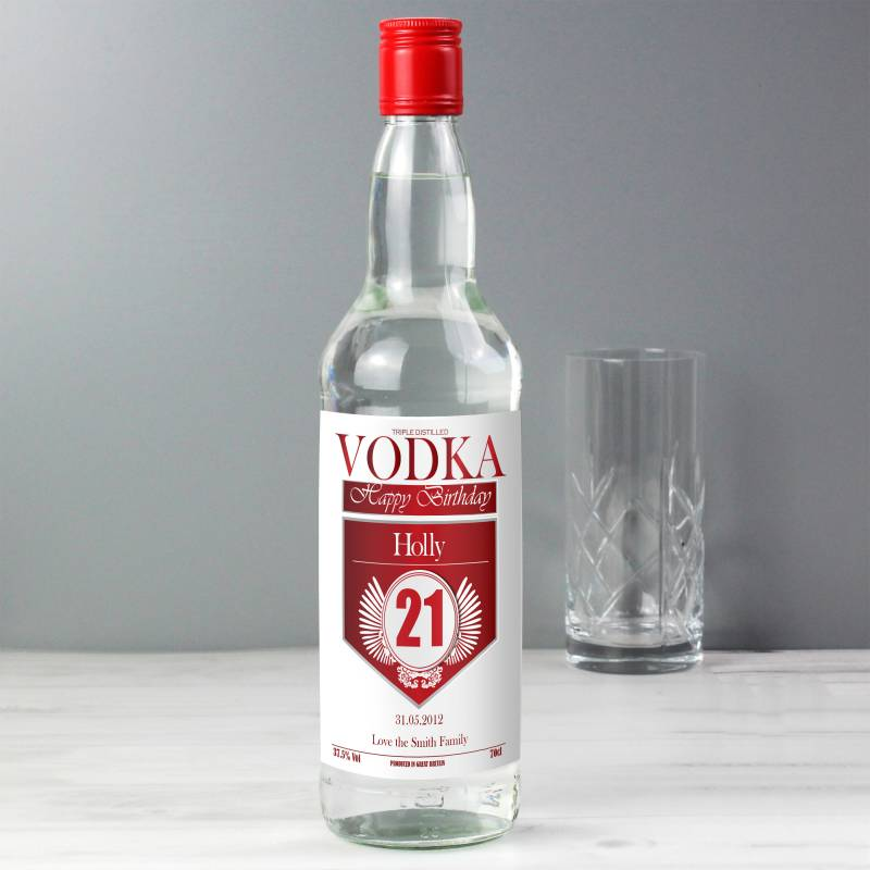 Personalised Birthday Vodka