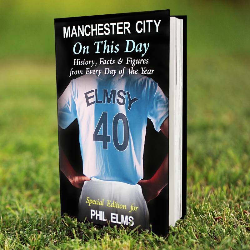 Personalised Man City Book