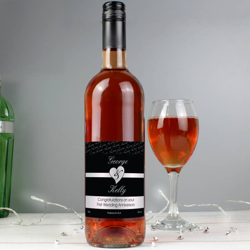 Couples Heart Rose Wine