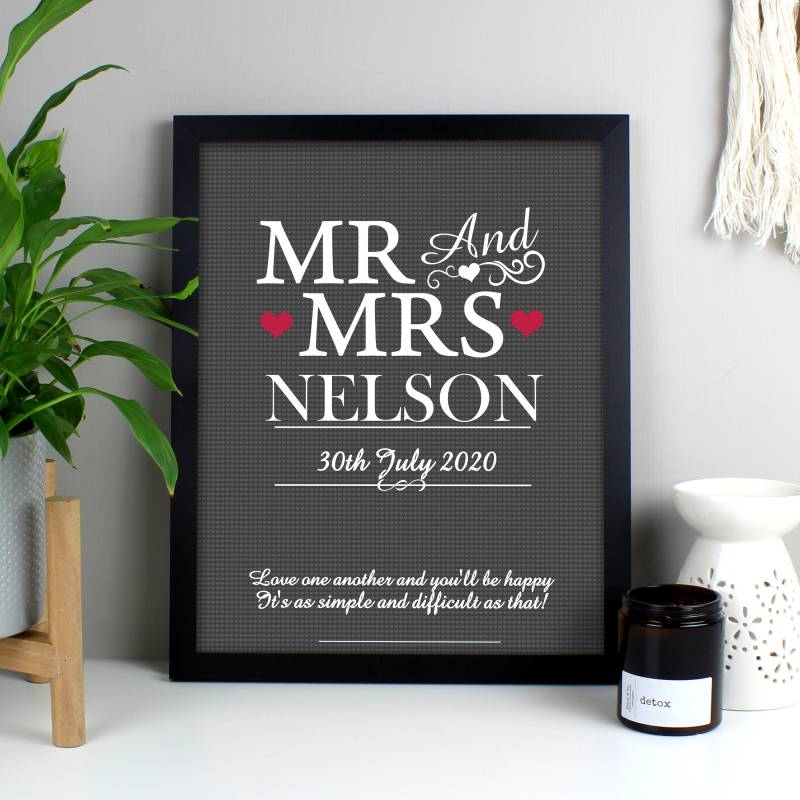 Personalised Mr & Mrs Framed Print