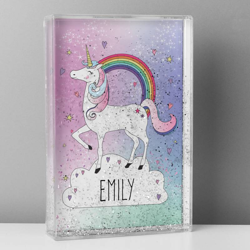 Personalised Unicorn Glitter Shaker