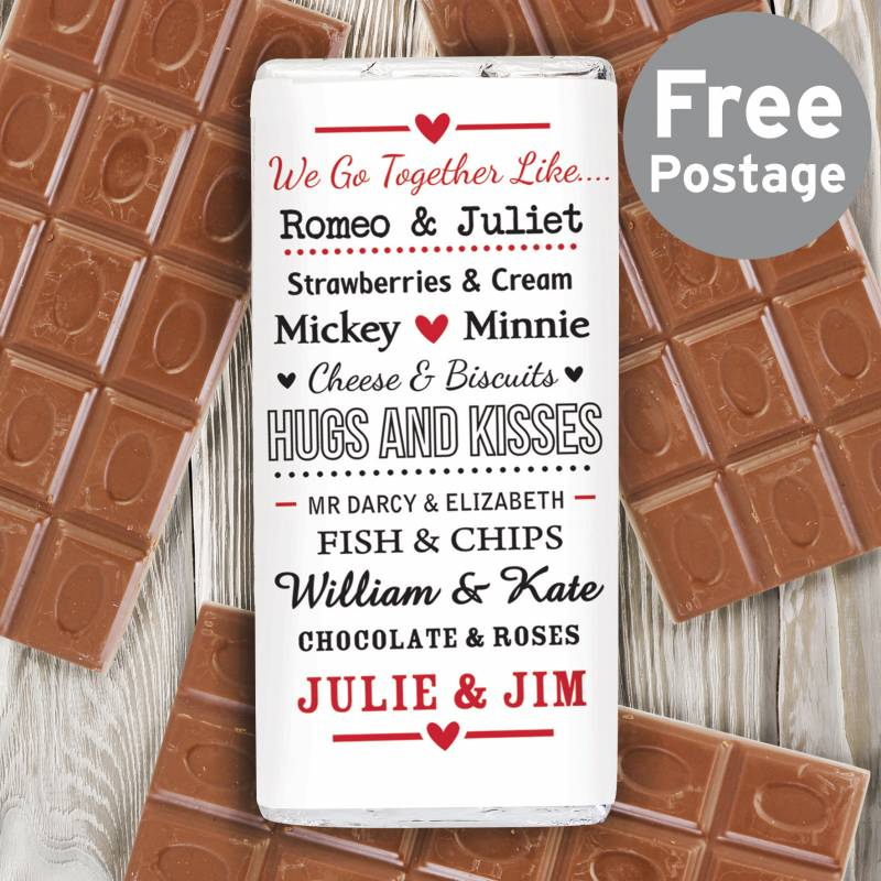 Personalised Couples Chocolate Bar