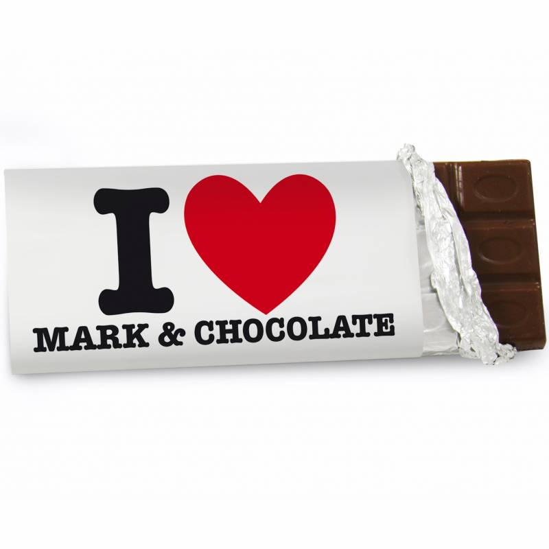 Personalised I HEART Chocolate Bar