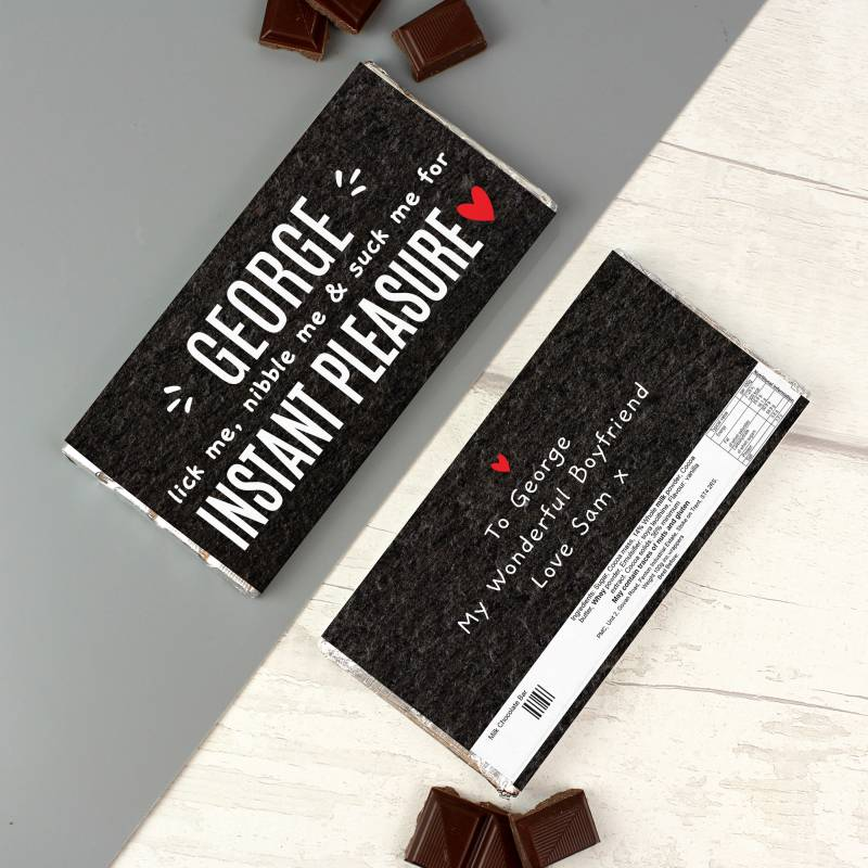 Personalised Instant Pleasure Milk Chocolate Bar