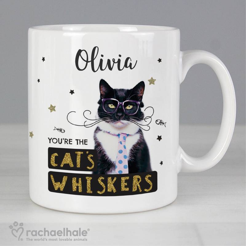 Personalised Rachael Hale 'You're the Cat's Whiskers' Mug