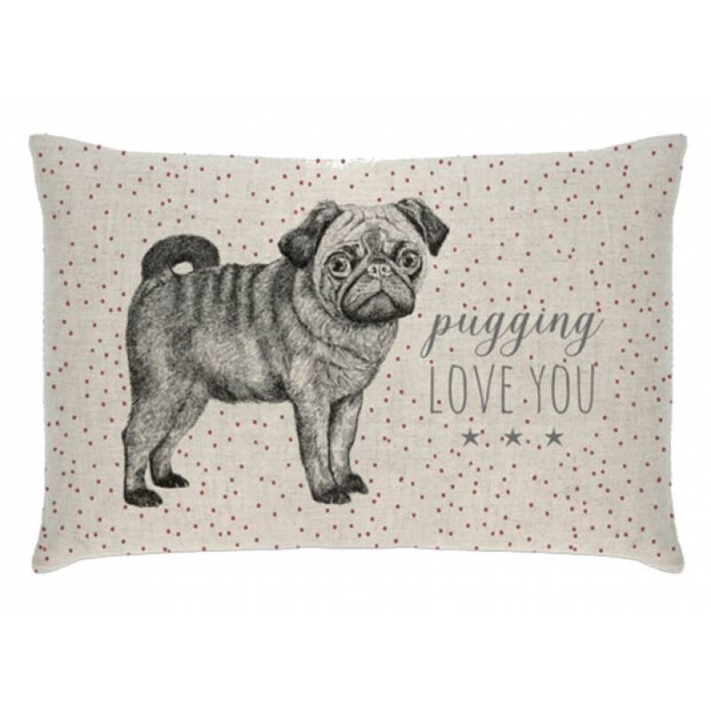 I Pugging Love You Cushion