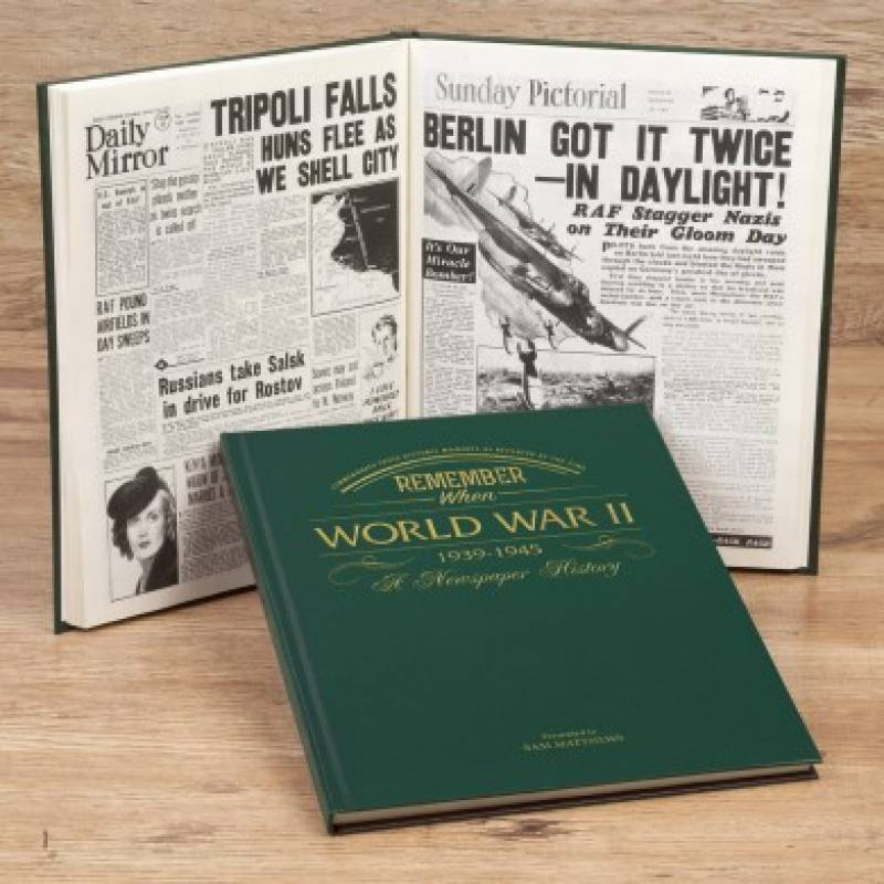 Personalised Embossed WW2 Newspaper Book