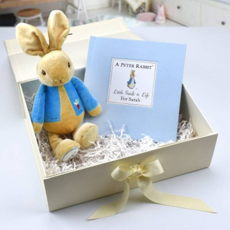 Personalised Peter Rabbit Guide to Life Plush Toy Set
