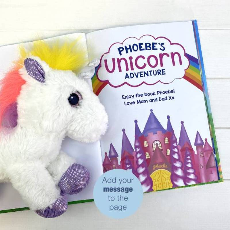 Unicorn Personalised Story Plush Toy Gift Set