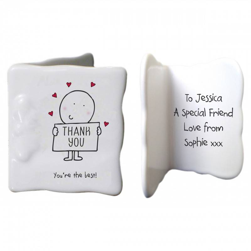Personalised China Thank You Message Card