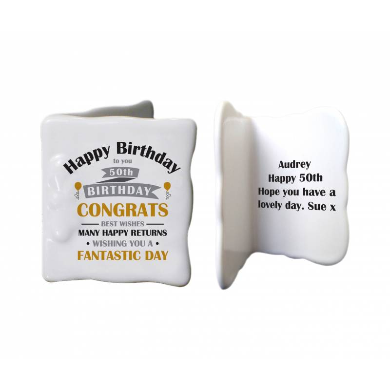 Personalised Ceramic Birthday Card