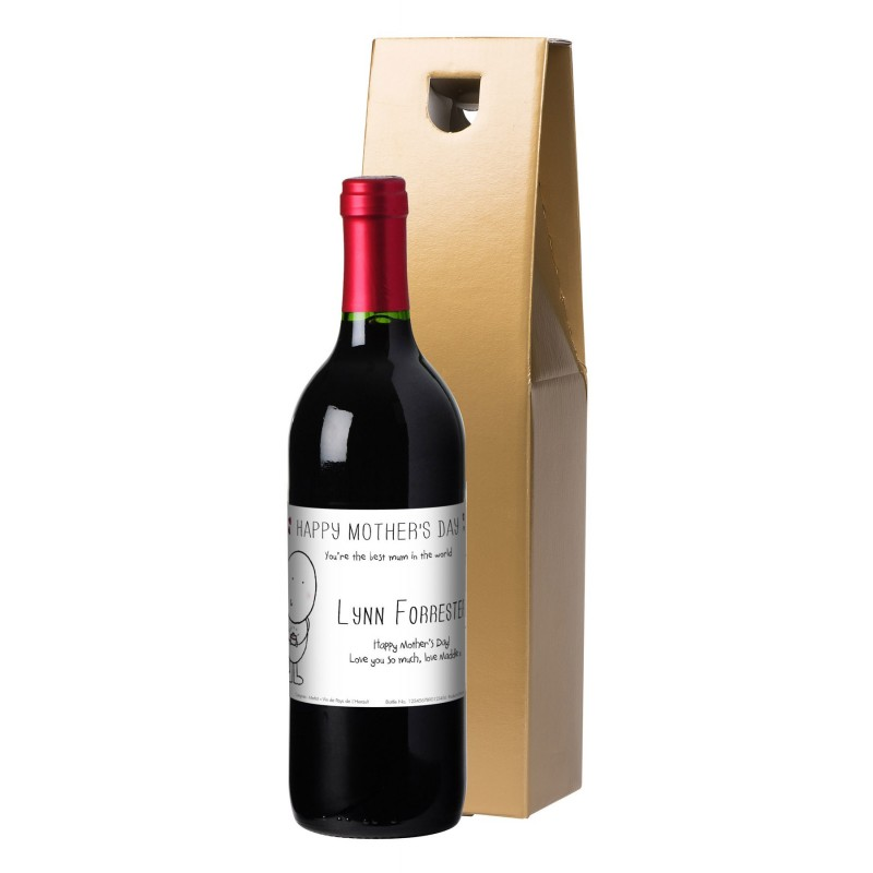 Personalised Mothers Day Red Wine