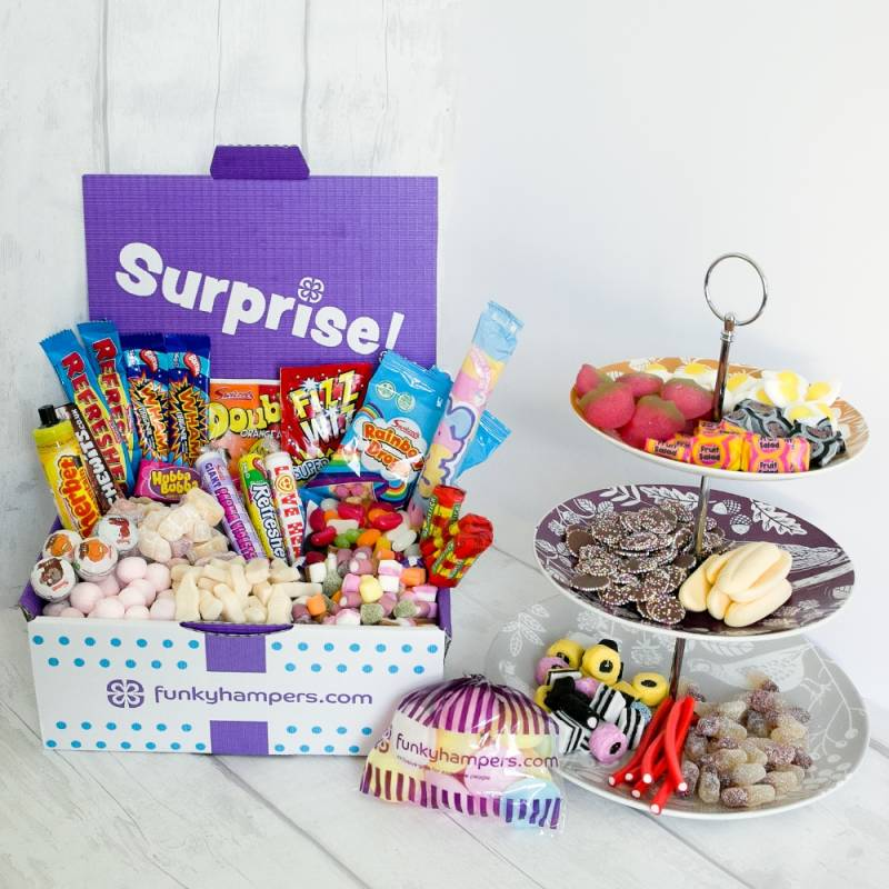 Super Deluxe Retro Sweets Gift Funky Hampers