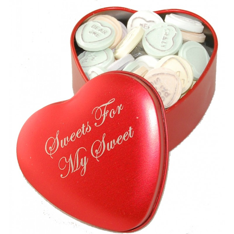 Sweets For My Sweet Love Hearts Tin Funky Hampers
