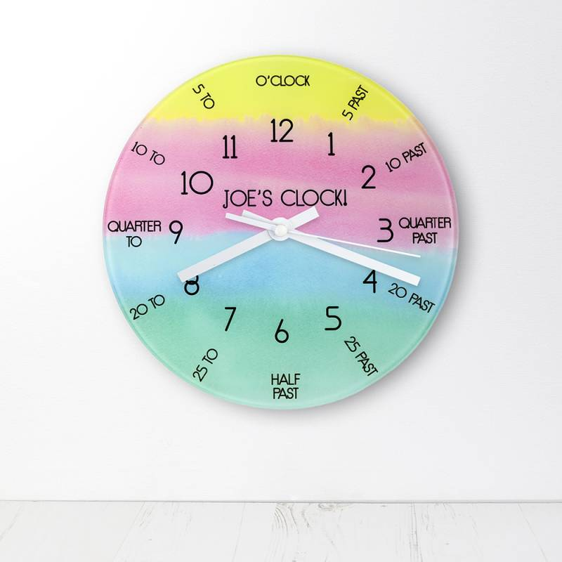 Personalised I Can Tell The Time Wall Clock