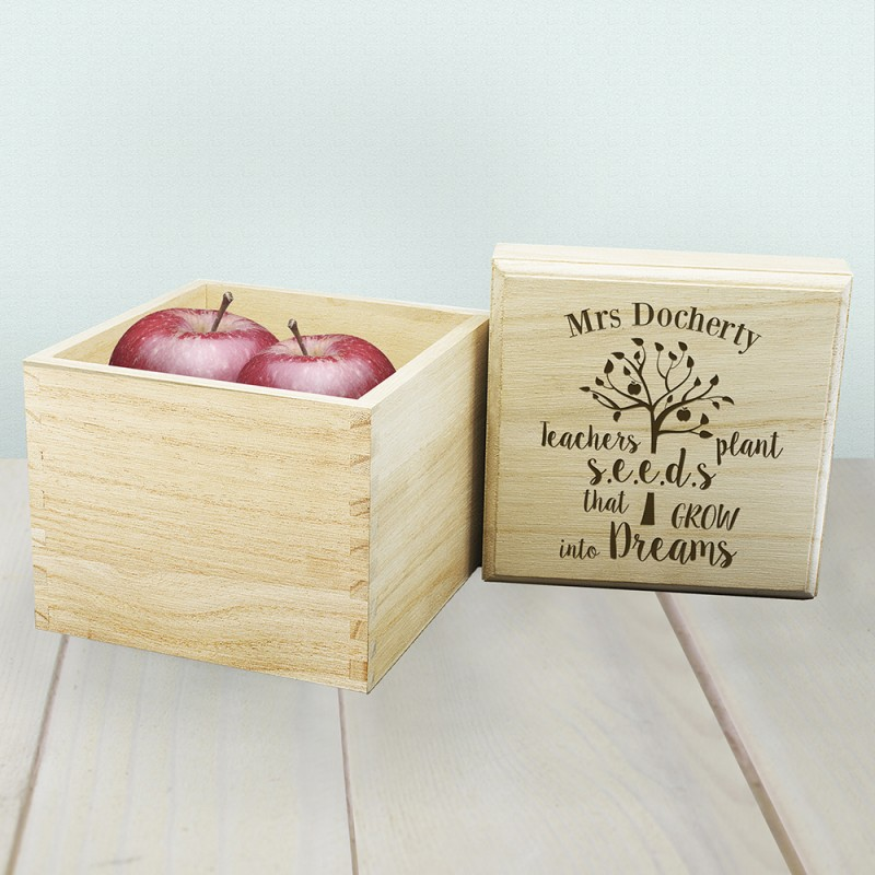 Personalised Teachers Dreams Cube Box