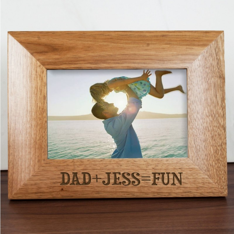 Personalised Fun with Dad Engraved Photo Frame