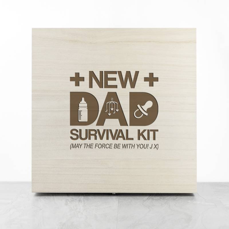Personalised New Dad Survival Kit Box