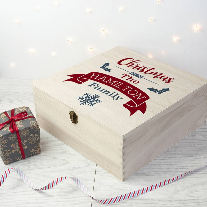 Personalised Our Familys Christmas Eve Box