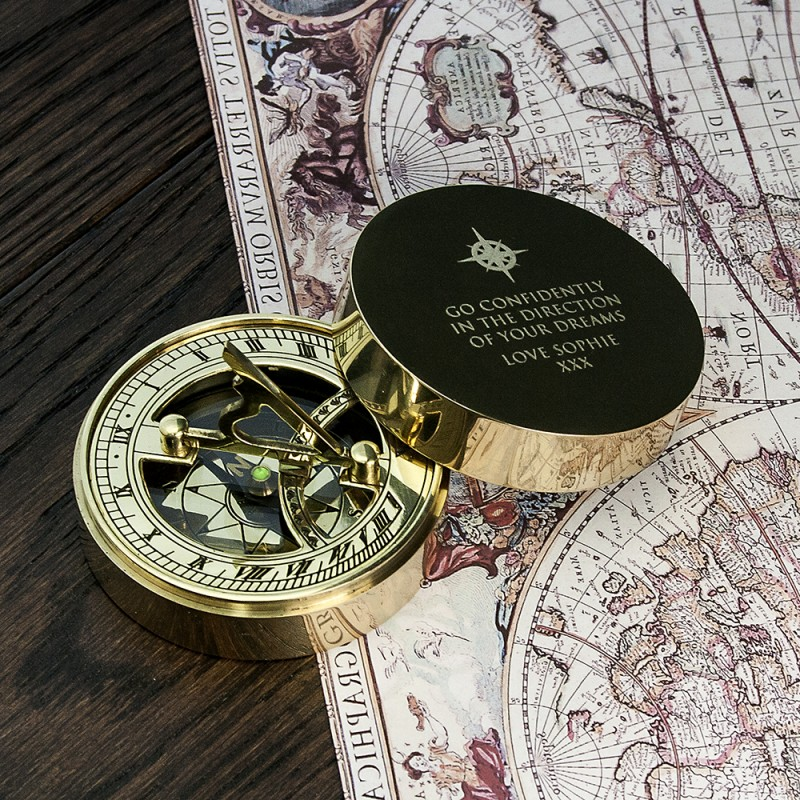 Personalised Sundial Compass