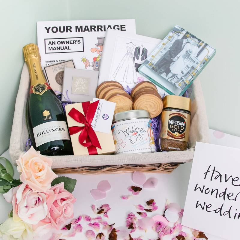 Just Married Hamper Funky Hampers