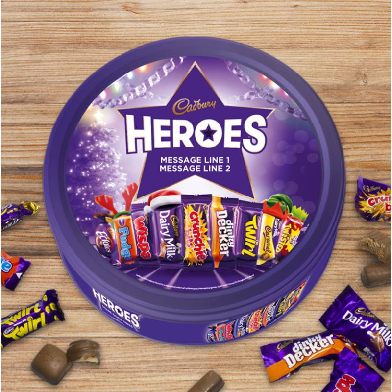 Christmas Personalised Cadbury Heroes Tin