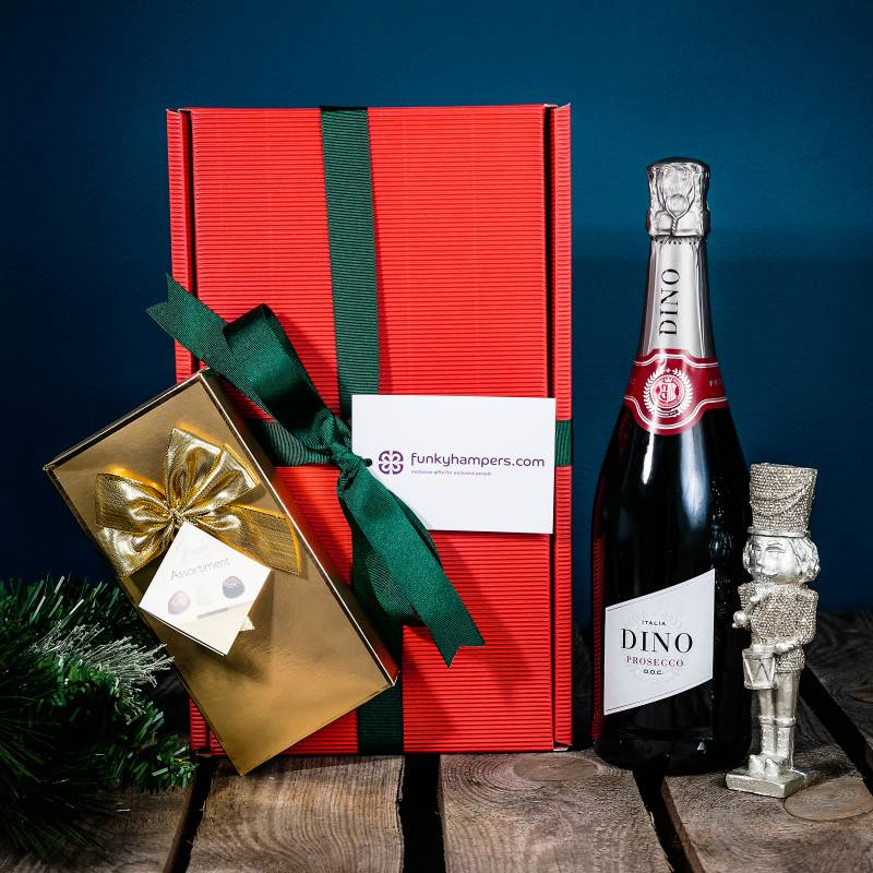 Christmas Prosecco and Belgian Chocolates Hamper